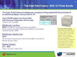 1 8026dn color laser printer 2 key selling points at 999