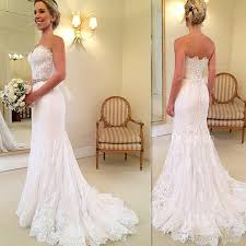 trumpet wedding dresses simple lace trumpet wedding gowns 2017 sweetheart handmade