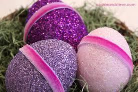 glitter easter eggs inspiration make some glitter easter eggs