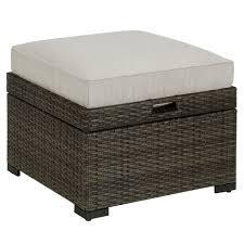 grand resort monterey cushioned ottoman with storage u0026 tray grey