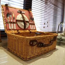 picnic basket set for 2 fashion classic outdoor wicker picnic basket set for 2 persons