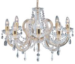 Marie Chandelier Searchlight Marie Therese 5 Light Chandelier Polished Brass 699