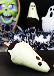 chocolate pear ghosts fun for kids to make fab food 4 all