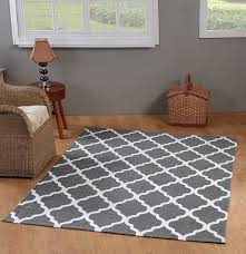 White And Gray Rugs Amazon Com Chesapeake Merchandising 5 Feet By 7 Feet Flatweave