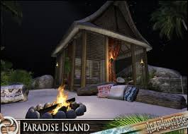 Tiki Hut Paradise Second Life Marketplace Paradise Island Tropical Sandy Island