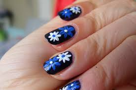 13 nail designs flowers easy black and white simple flowers nail