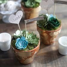 Flower Pot Wedding Favors - diy wedding favors paper succulent pots lia griffith