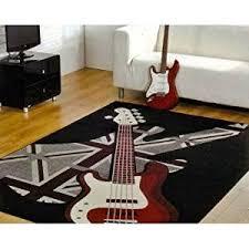 Guitar Rugs Boys Rock Guitar Rug 120x160cm Retro Uk Mainland Postage Only