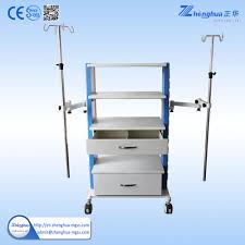 hospital medical trolley cart for endoscope room