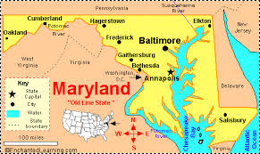maryland mapa map baltimore