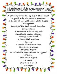 printable christmas lights scavenger hunt christmas winter