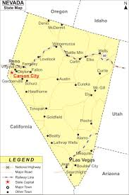 Map Of Nevada Cities Nevada Map Jpg
