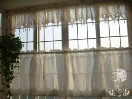 French Lace Kitchen Curtains 14 Best Kitchen Curtains Images On Pinterest Crochet Curtains