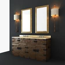 restoration hardware bathroom furniture set 3d model max obj fbx mtl