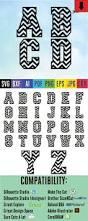 chevron letters svg cutting files chevron alphabet font