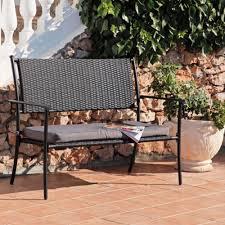 28 rattan garden bench leisuregrow madrid 2 seat woven