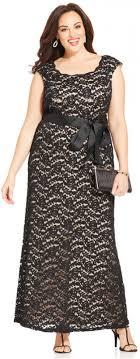 r m richards plus size dresses r m richards plus size contrast lace belted gown 2210194 weddbook