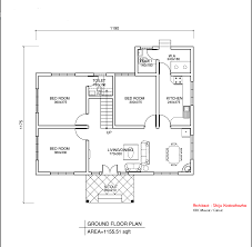 Simple Home Blueprints Plan And Elevation Of Simple House Simple House Plans Free