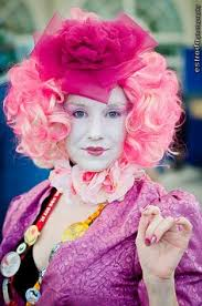 effie trinket costume i did for the hunger games party party