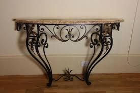 Iron Console Table Console Tables Wrought Iron Console Table With Marble Top