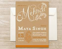 henna invitation mehndi invitation etsy