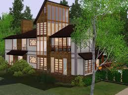 mod the sims contemporary hillside house