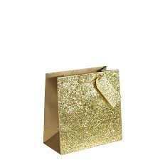 gold gift bags crushed gold glitter square gift bag large x 1pc my carrier