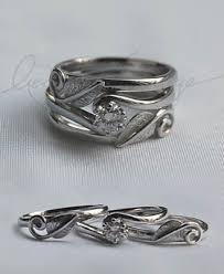handmade wedding rings leaves handmade wedding ring with engagement ring created flickr