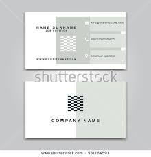 back of business cards vector business card creative design modern stock vector 531164470