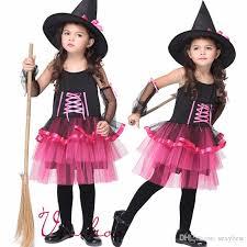 Girls Witch Halloween Costume Girls Witch Cosplay Halloween Fairy Costumes Girls Masquerade