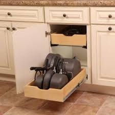 home depot kitchen cabinet organizers real solutions for real 7 5 in x 15 3 in x 12 in pot