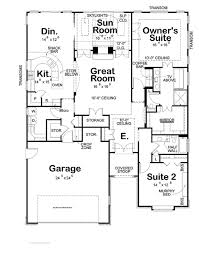 House Plan With Front Kitchen Simple Two Story Rectangular House Design Two Kitchen House Plan