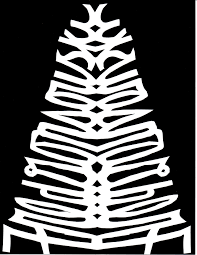 a paper craft project for kids making a christmas tree out of