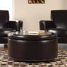 Circle Ottomans Sofa Cube Ottoman Upholstered Storage Ottoman Brown Storage
