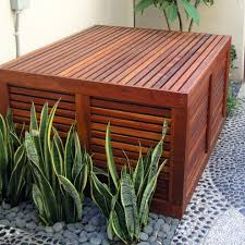 los angeles pool pump enclosures landscape contemporary with wood
