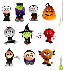 halloween characters clipart nervous ghost cartoon halloween vector illustration stock vector