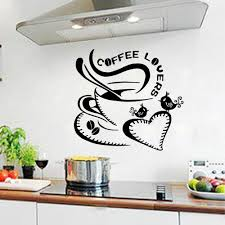 wall stricker coffee lovers living room stickers bedroom undefined
