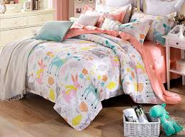 Bedding Cover Sets by Happy Time Pattern 4 Pieces Kids Cotton Duvet Cover Sets