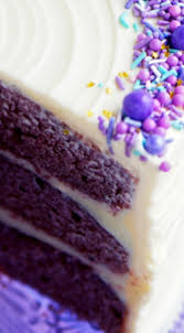 purple velvet cake with cream cheese frosting moist purple
