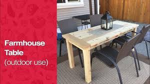 how to build a cedar patio table youtube
