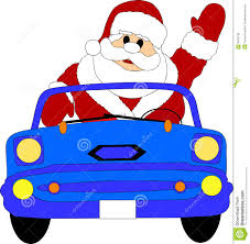 father christmas driving car royalty free stock images image
