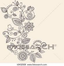 clip art of vines henna tattoo paisley vector k8432926 search