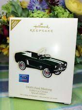 hallmark mustang ornament ebay