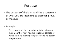 What Is The Purpose Of A Resume Lab Report Sample Purpose The Purpose Of The Lab Should Be A