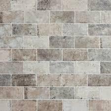 Porcelain Tile Kitchen Backsplash New York Soho Brick Look Porcelain Tile 4in X 8in 100086917