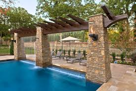 Patio Awning Reviews Helix Torches Two Helix Torches Mounted On Patio Awning Over Pool