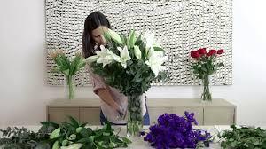 how to arrange beautiful flower in vase youtube