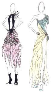 three steps of sketch dress fashion designer sketchs ideas