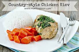 country style chicken kiev manila spoon