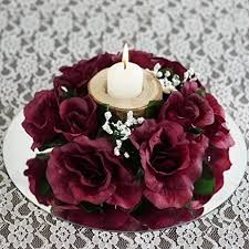 flower candle rings efavormart 8 pcs artificial roses flowers candle rings